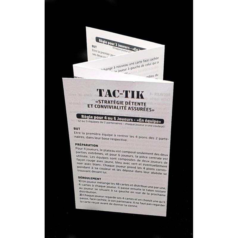 Règle du jeux TACTIK - GO49 - Chemillé en Anjou